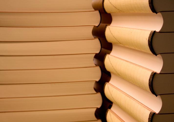 Livres en préparation cousus machines